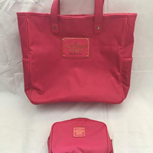VICTORIA'S SECRET LARGE PINK LAPTOP TOTE PURSE BAG